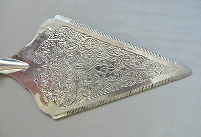 Silver Plated? Serrated Ornate Cake Slice Server High Tea