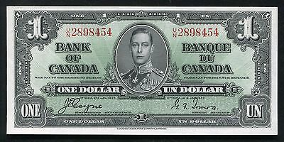 BC-21d 1937 $1 ONE DOLLAR BANK OF CANADA BANKNOTE GEM UNCIRCULATED