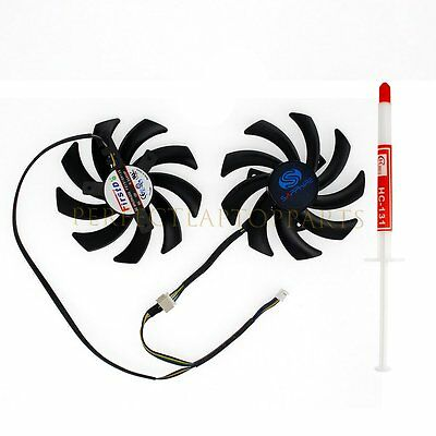 NEW For Sapphire Dual-X 85mm Video Card FD7010H12S 4 Pin 12V 0.35A Notebook Fan
