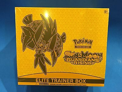 ( GUARDIANS RISING ) - Sun & Moon -  Elite trainer box - Sealed New! - Pokemon