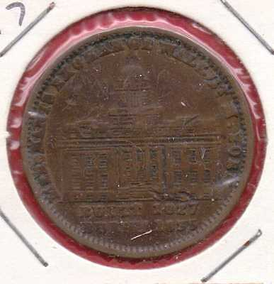 """1827-1835 """"millions For Defence, Not One Cent For Tribute"""" Hard Times Token"""