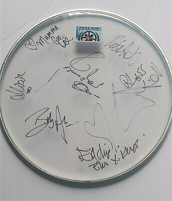 XAVIER RUDD AND THE UNITED NATIONS Band Signed Drumhead PROOF Nanna