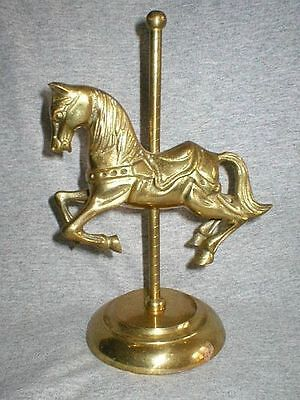 Vintage Solid Brass Carousel  Horse Equestrian Circus Figurine