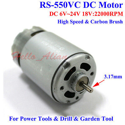 MABUCHI RS-550VC-8518 DC 12V 18V 24V 22000RPM High Speed Electric Drill Motor