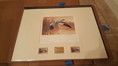 RW55   Federal  Duck Stamp Print  Executive Solid Gold Medallion   #RW55TF850FG