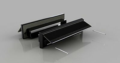 Black Finish Sleeved Letter Box Cover - Complete Internal and External (q4h)