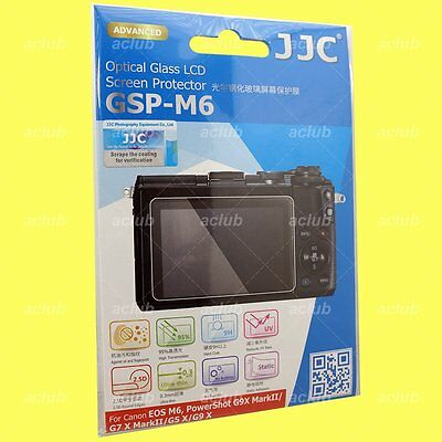 JJC 0.3mm 9H Tempered Glass LCD Screen Protector For Canon EOS M6 G9 X Mark II