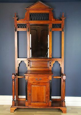 Solid Mahogany Victorian/Edwardian Hall Stand. Reproduction. Excellent condition
