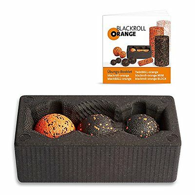 Blackroll Orange (L'originale) - BLOCK con blackBALL-orange 8 cm e (L8v)