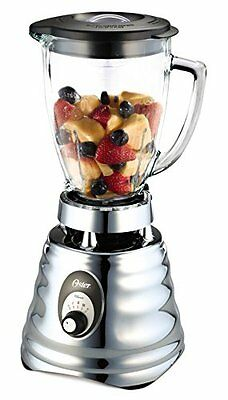 Oster Classic Frullatore, 4 Lame in Acciaio Inox, 600 W, Argento (Y2k)