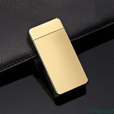 Electric Lighter Dual Cigarette Plasma Rechargeable Windproof Flameless USB IS8
