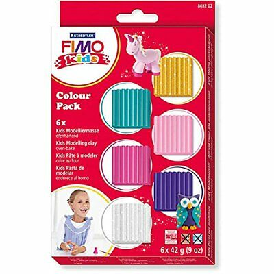 Staedtler 8032 02 Fimo kids Confezione di Materiali, Colour Pack girlie, (B7B)