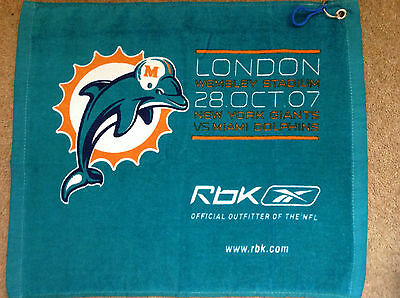 2 X Miami Dolphins Golf/bowls/fishing/camping/towels