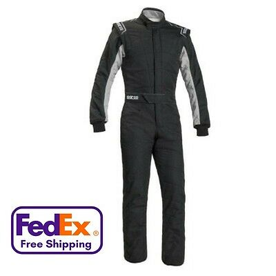 Sparco Sprint RS-2 1-Piece 2-Layer Race Suit - All Sizes - SFI-3.2A/1, FIA Appvd