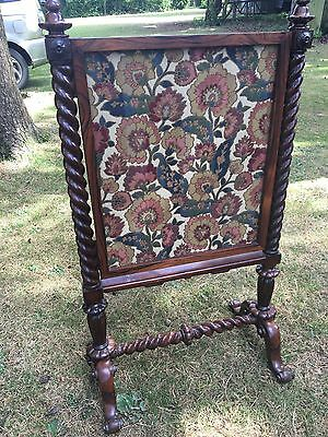 Victorian Mahogany & Rosewood Fire Screen