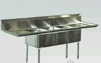 New  3  Compartment  Sink  Stainless  Steel