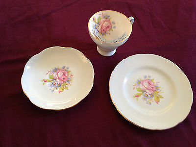 Vintage Foley Bone China trio