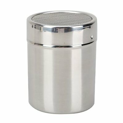 Stainless Steel Flour Sifter Icing Sugar Dredger Chocolate Powder Shaker BF
