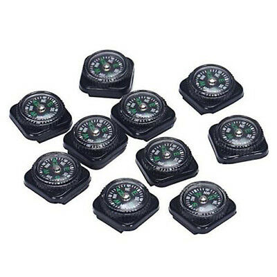 10PCS Mini Compass For Paracord Bracelet Outdoor Camping Emergency Hiking BF