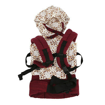 Cotton Baby Carrier Infant Comfort Backpack Buckle Sling Wrap BF