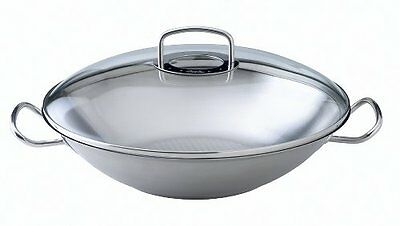 Fissler Original profi collection 8482635000 Wok con coperchio in vetro (m3w)