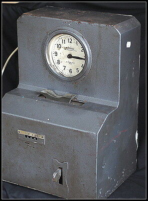 Vintage National Time Recorder Clocking in Clock. Electrical Mechanical