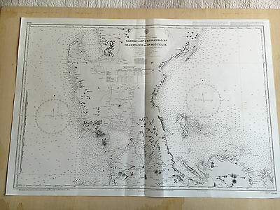 Large Admiralty Chart 3806 Office Map of Philippines Cabra Islands Naval Map