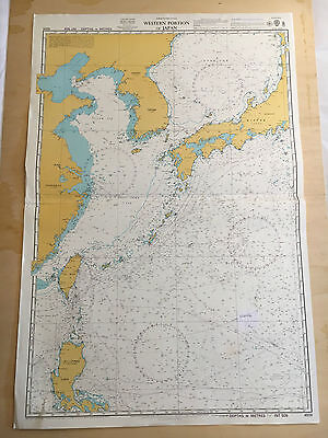 Large Admiralty Chart Office Map of Western Portion of Japan Naval Map 1997