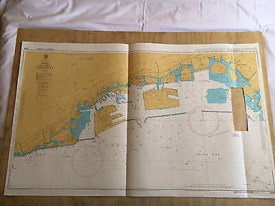 Large Admiralty Chart Map of Japan Kobe inc Nishinomiya Naval Map 1995