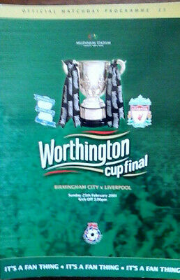 Birmingham V Liverpool 25/2/2001 League Cup Final