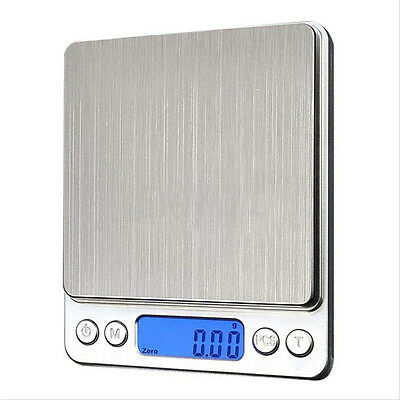 500g x0.01g Digital Pocket Gram Scale Jewelry Weight Electronic Balance Scale UP