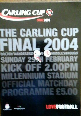 Bolton V Middlesbrough 29/2/2004 League Cup Final