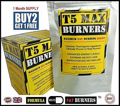 T5 MAX FAT BURNERS STRONGEST LEGAL SLIMMING DIET & WEIGHT LOSS PILLS - FMAX5 x93
