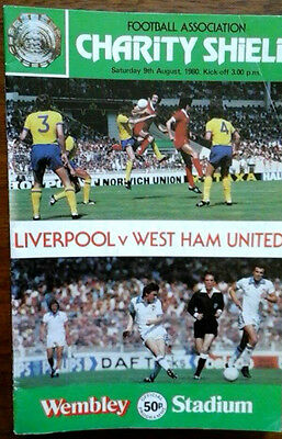 Liverpool V West Ham 9/8/1980 Charity Shield