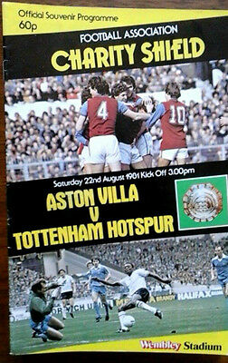Aston Villa V Tottenham 22/8/1981 Charity Shield