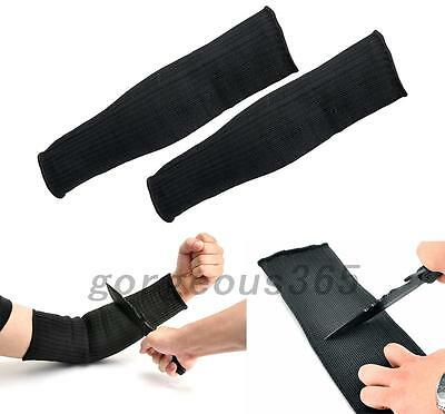 Black Steel Wire Tactical Cut Proof Armband Protective Sleeve Arm Guard Bracers