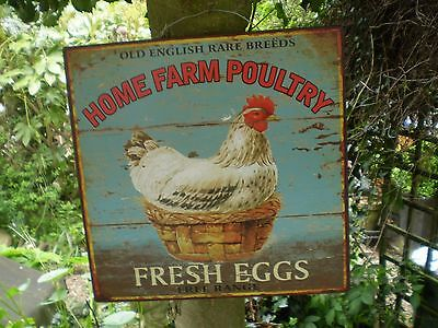 Vintage Style Farmyard Home Farm Poultry Fresh Eggs Sign,Kitchenalia,Garden