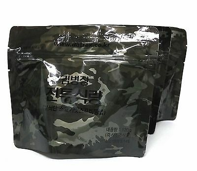 3 Packs Korea MRE Military Meal Rice Food Combat Emergency Rations Beef Powder