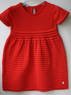 Baby Dior Red Silk And Cotton Knit Dress 18 Months