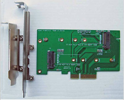M.2 NGFF PCIe 4 LANE SSD to PCIE 3.0 x4 adapter for LITE-ON IT M6E samsung xp941