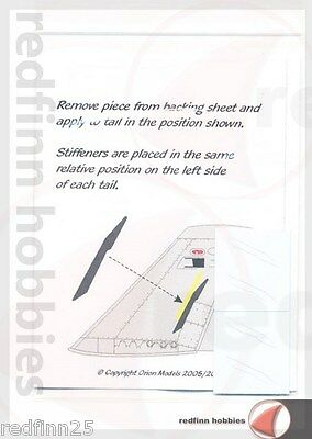 Orion Models F/A-18A Hornet tail Stiffeners 1/72 scale
