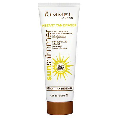 RIMMEL LONDON - SUN SHIMMER - INSTANT TAN REMOVER 125ml - FOR HANDS, BODY, FACE