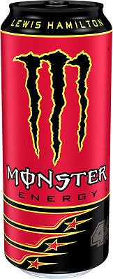 12x 500ml Cans of Lewis Hamilton 44 Monster Energy Drink Refreshing Stimulating