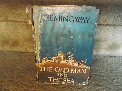 """THE OLD MAN AND THE SEA~Hemingway 1952 HC Book~1st Edition """"A"""" & Seal Colophon"""