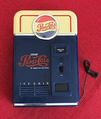PEPSI COLA AM/FM Transistor radio SHAPE OF VENDING MACHINE-NEW IN BOX  WORKS