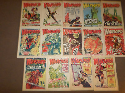 1974 WARLORD COMICS x 14 - ISSUES 1-14 EXCELLENT