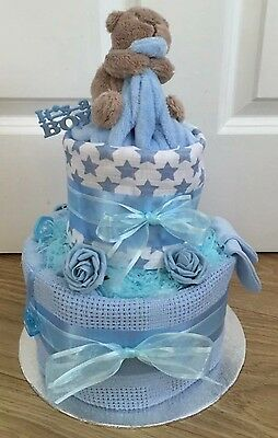 Baby Boy Nappy Cake Baby Shower Gift
