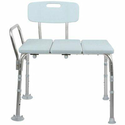 Bath Shower Transfer Benches Medline Transfer Bench with Back, Knockdown,
