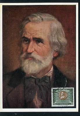 Italie. - Carte Maximum 1963, Guiseppe Verdi , compositeur