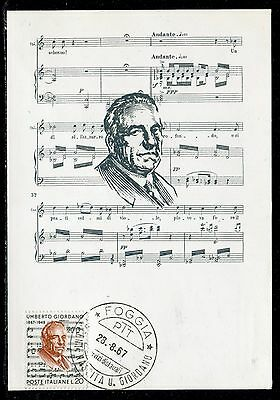 Italie - Carte Maximum 1967 , Umberto Giordano, compositeur